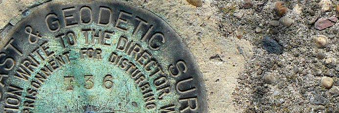 A USGS land survey bench mark in Southern California